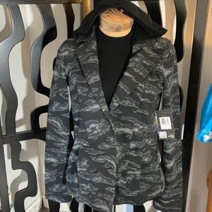 Hurley Button Up Camo Hooded Jacket